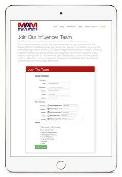influencers pad white eval form