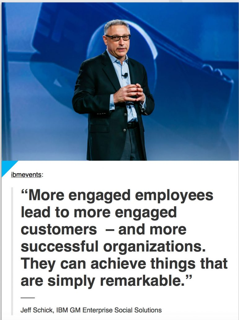 IBM quote about engaged employees