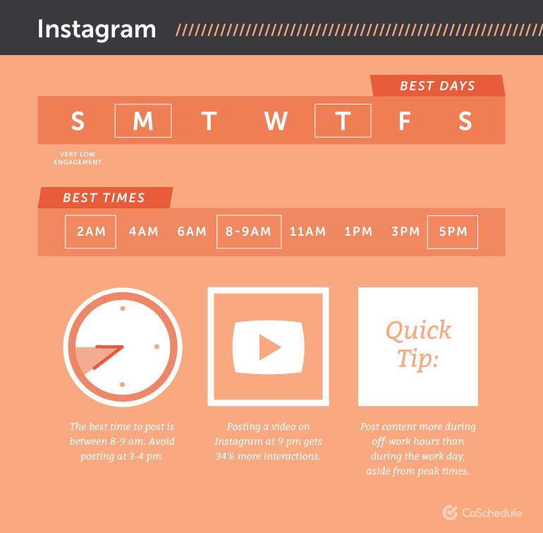 best times to post on social media for the Instagram algorithm